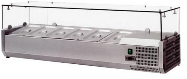 OMCAN 55in European Topping Rail Refrigerated Pizza Prep Table Top
