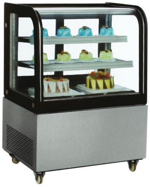 OMCAN 36in Curved Glass Refrigerated Display Case