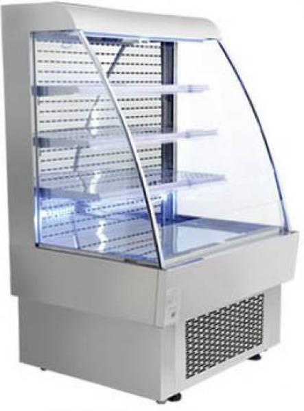 "OMCAN 13.4cf 40"" Open Air Refrigerated Grab and Go Display Case"