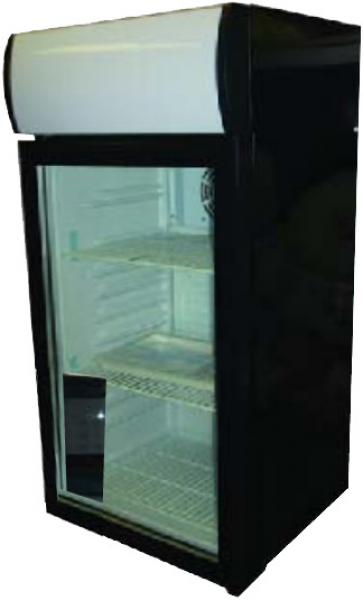 Alamo 2.3cf Countertop Commercial Glass Display Refrigerator
