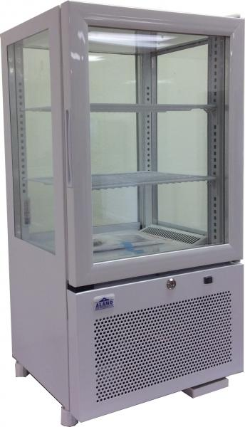 "Alamo 2.05cf 17"" 4-Sided Glass Refrigerated Countertop Display Case"