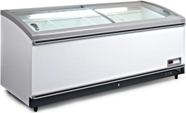 Fricon 87in Commercial Supermarket Glass-top Display Freezer