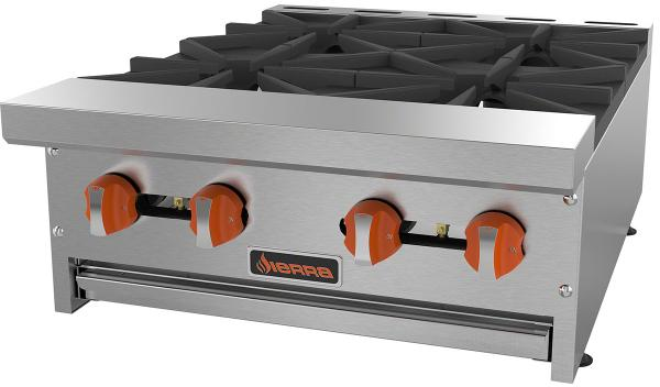 Sierra 24in 4-burner Commercial Gas Hot Plate