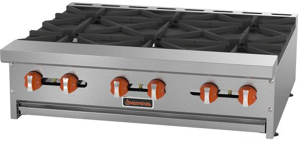 Sierra 36in 6-burner Commercial Gas Hot Plate