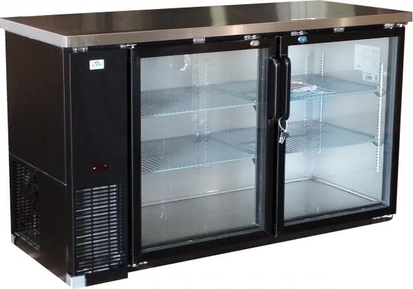 ALAMO 15.8cf 2-Door Back-Bar Glass Display Beer Bottle Cooler