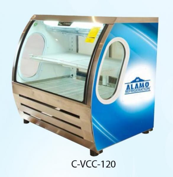 Criotec 48in Curved Glass Refrigerated Bakery Deli Meat Case
