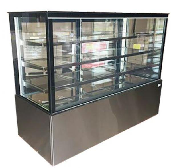"Alamo 71"" Refrigerated Glass Bakery Display Case"