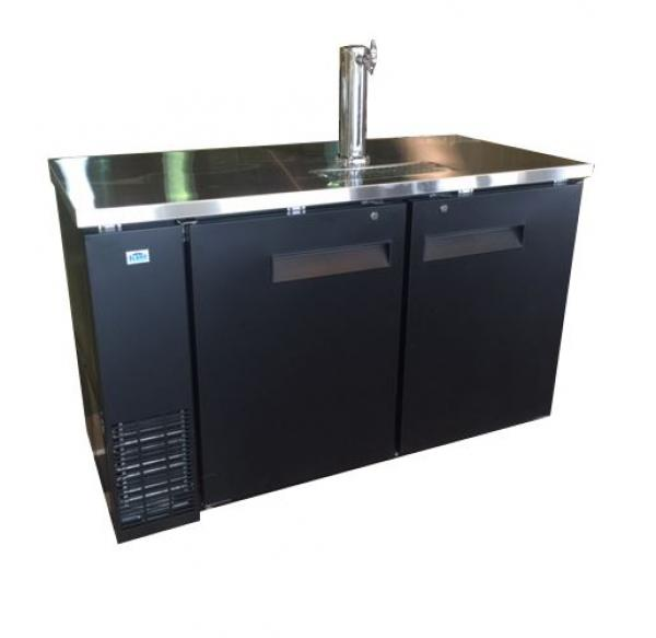 "Alamo 59"" 2-Door 1-Tower Commercial Bar Kegerator"