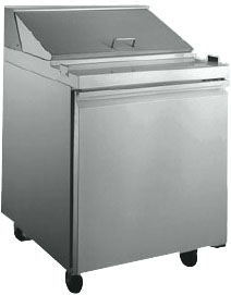 "OMCAN 27""W 1-Door Stainless Commercial Refrigerated Sandwich Prep Table (PREMIUM edition)"