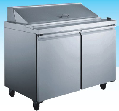 "OMCAN 48""W 2-Door MEGATOP Commercial Refrigerated Sandwich Prep Table (PREMIUM edition)"