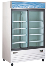 OMCAN 45cf 2-Glass Door Commercial Refrigerator Merchandiser (PREMIUM edition)