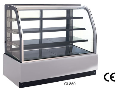 "OMCAN 36""W x 52""H Refrigerated Cold Bakery Pastry and Cake Display Case"