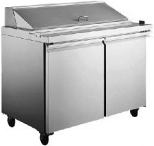 "Alamo 47""W 2-Door Commercial Refrigerated Sandwich & Salad Prep Table"