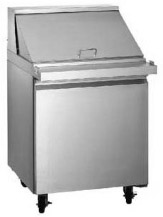 "Alamo 27""W 1-Door MEGATOP Commercial Refrigerated Sandwich Prep Table"
