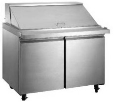 "Alamo 47""W 2-Door MEGATOP Commercial Refrigerated Sandwich Prep Table"