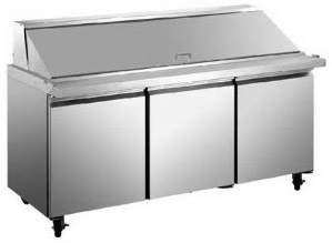 "Alamo 70""W 3-Door MEGATOP Commercial Refrigerated Sandwich Prep Table"