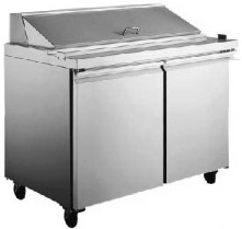 "Alamo 60""W 2-Door MEGATOP Commercial Refrigerated Sandwich Prep Table"