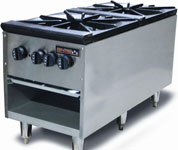 Tri-Star TSSP-18-2D Commercial 180,000 BTU Dual Gas Stock Pot Stove