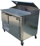 New US-made 60in Refrigerated Stainless Pizza Prep Table