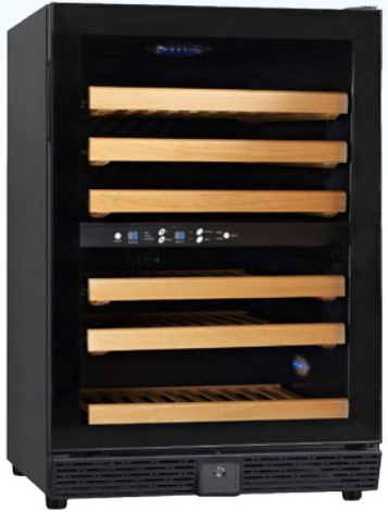 VinoVero by OMCAN Dual-Zone 45-Bottle Commercial Wine Cooler Cellar