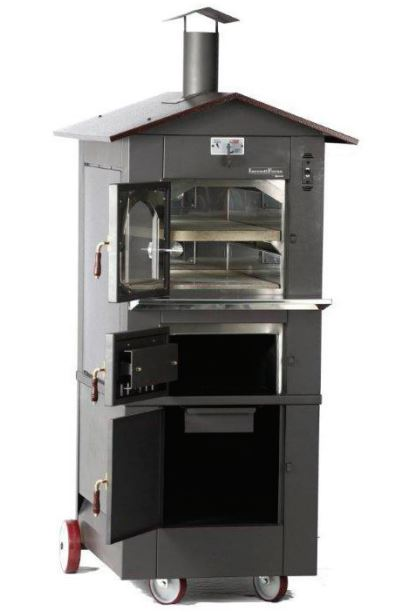 IncendiForno Italian Wood-burning Pizza Oven Stove w/Roof (Small)