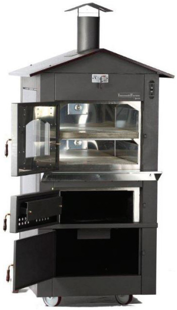 IncendiForno Italian Wood-burning Pizza Oven Stove w/Roof (Large)