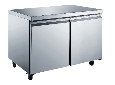 "Alamo 47""W 12cf Commercial Stainless Undercounter Worktop Freezer"