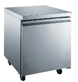 "Alamo 27""W 6.25cf Commercial Stainless Undercounter Worktop Freezer"