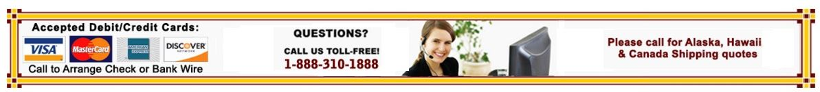 Questions?  Call us toll-free!