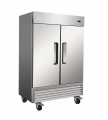 49cf 2-Door Stainless Reach-In Commercial Freezer