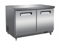 "61"" 2-Door Stainless Undercounter Commercial Freezer"