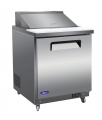 "Valpro 29"" Commercial Sandwich and Salad Prep Table Refrigerator"