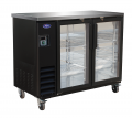 "Valpro 49"" Commercial 2-Door Glass Back Bar Bottle Cooler Refrigerator"