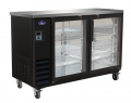 "Valpro 61"" Commercial 2-Door Glass Back Bar Bottle Cooler Refrigerator"
