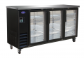 "Valpro 73"" Commercial 3-Door Glass Back Bar Bottle Cooler Refrigerator"