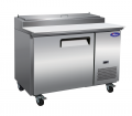 "Valpro 48"" 1-Door Commercial Refrigerated Pizza Prep Table"