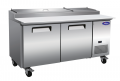 "Valpro 71"" 2-Door Commercial Refrigerated Pizza Prep Table"