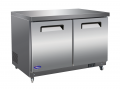 "Valpro 12cf 2-Door 48"" Stainless Undercounter Commercial Freezer"